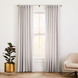 """Cotton Velvet Curtain Frost Gray 48""""""""x108   West Elm (US)"""