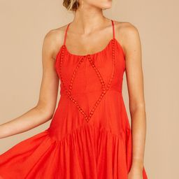 From A Song Tomato Red Dress | Red Dress