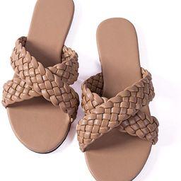 Women Flip-Flops Pearls Bow Sandals Beach Flat Rivets Rain Jelly Gold Pearls | Amazon (US)