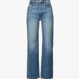 Remi regular high-rise wide-leg organic cotton-blend stretch-denim jeans   Selfridges
