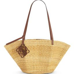 Loewe Women's Small Shell Leather-Trimmed Basket Bag - Natural | Saks Fifth Avenue