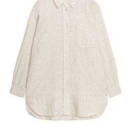 Oversized Linen Shirt   ARKET