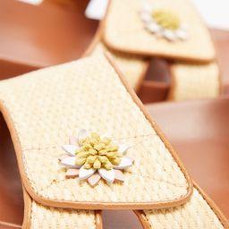 Berkley floral-appliqué raffia sandals   Matchesfashion (UK)
