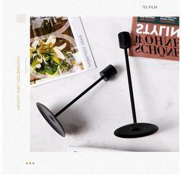 Puloru 2 Pieces Candle Holder, Solid Color Metal Candlestick Desktop Decor for Home Office, Black... | Walmart (US)