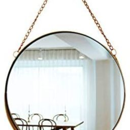 April Box–Decorative Hanging Wall Mirror – Small Vintage Mirror for Wall - 10 Inch Gold Metal... | Amazon (US)