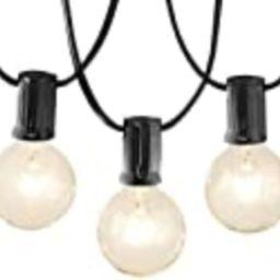 Amazon Basics Patio String Light, 25 Feet, Black | Amazon (US)