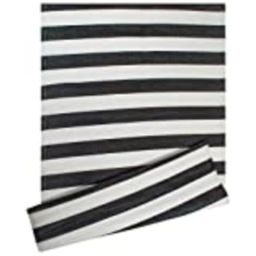 DII Reversible Indoor Woven Striped Outdoor Rug, 4x6', White & Black | Amazon (US)