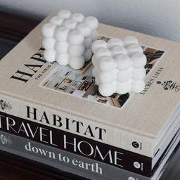 White Concrete Bookends   Etsy (US)