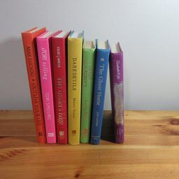 7 Assorted Rainbow Color Books, Decor, Staging BB015   Etsy (US)