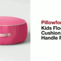 Kids' Floor Cushion with Handle Pink - Pillowfort™   Target