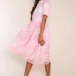 SICILY DRESS IN PINK SHORT SLEEVE | Ivy City Co