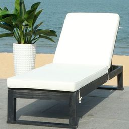 Safavieh Black & White Solano Outdoor Chaise   Best Price and Reviews   Zulily   Zulily