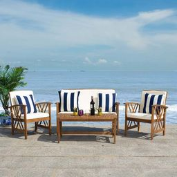 Safavieh Beige & Black Fontana Outdoor Lounge Set   Best Price and Reviews   Zulily   Zulily