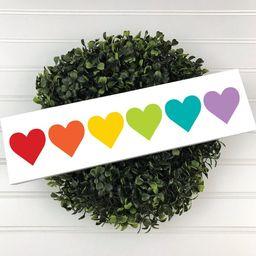 Heart Wood Sign, Rainbow Sign, Rainbow Heart Sign, Colorful Hearts, Colorful Wood Sign, Craft Roo...   Etsy (US)