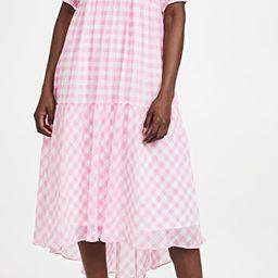 Gingham Print Midi Dress | Shopbop