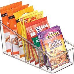 mDesign Large Plastic Food Packet Organizer Caddy for Fridge or Freezer- Storage for Kitchen, Pan... | Amazon (US)