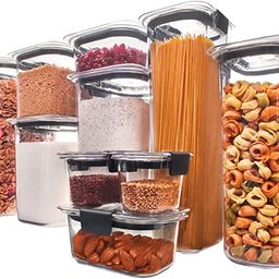 Rubbermaid Brilliance Pantry Organization & Food Storage Containers with Airtight Lids, Set of 10... | Amazon (US)