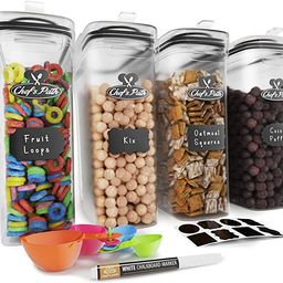 Cereal Container Storage Set - Airtight Food Storage Containers, Kitchen & Pantry Organization, 8... | Amazon (US)