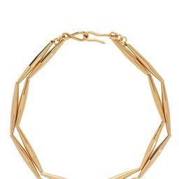 Helia Geometric Tube Necklace   INTERMIX