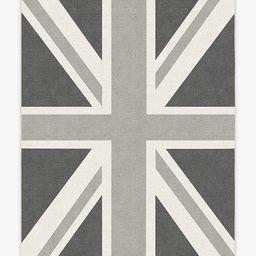 Union Jack Grey Rug   Ruggable