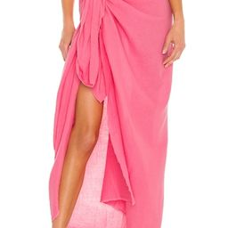 MIKOH Toyama Sarong in Guava Pop from Revolve.com | Revolve Clothing (Global)