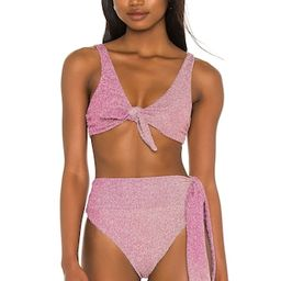 BEACH RIOT Grace Bikini Top in Pink Shine Ombre from Revolve.com | Revolve Clothing (Global)