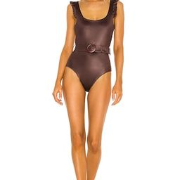 Agua Bendita Nicolette Bronzo One Piece in Brown from Revolve.com | Revolve Clothing (Global)
