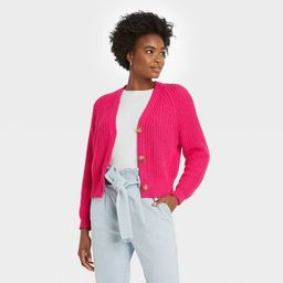 Women's Open Neck Button-Front Cardigan - A New Day™ | Target