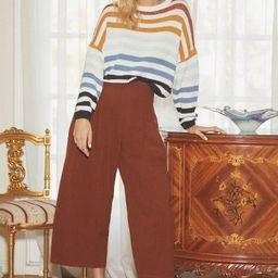 Charli Blue Multi Striped Knit Sweater | Lulus (US)