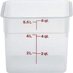Cambro 6SFSPP190 CamSquare Storage Container, Translucent, 6 qt. | Amazon (US)