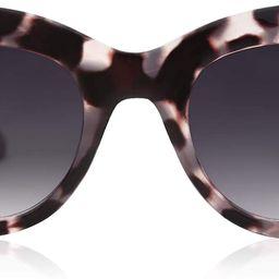 Retro Vintage Cateye Sunglasses for Women Plastic Frame Mirrored Lens SJ2939   Amazon (US)