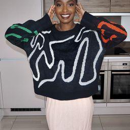 SHEIN Drop Shoulder Graphic Sweater | SHEIN