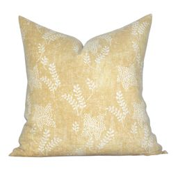 READY TO SHIP, pillow cover, Aida Bloom, yellow floral, Spark Modern pillow   Etsy (US)