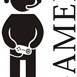Gamer with Controller Wall Decal, Game Boy Decal Wall Sticker, Vinyl Art Design Sticker Wall for ...   Amazon (US)