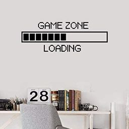 Vinyl Wall Decal Game Zone Loading Wall Sticker Home Decor Gamer Room Wall Mural Boys Bedroom Dec...   Amazon (US)
