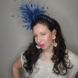 Kentucky derby hat fascinator blue navy swarovski crystal | Etsy | Etsy (US)
