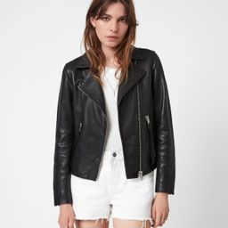 Dalby Leather Biker Jacket   All Saints US
