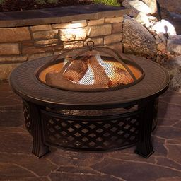 Fire Pit Set, Wood Burning Pit - Includes Spark Screen and Log Poker - Great for Outdoor and Pati... | Amazon (US)