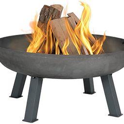 Sunnydaze Cast Iron Outdoor Fire Pit Bowl - 34 Inch Large Round Bonfire Wood Burning Patio & Back... | Amazon (US)
