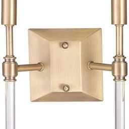 Globe Electric 60488 Delaney 2-Light Wall Sconce, Brass, Crystal Detail | Amazon (US)