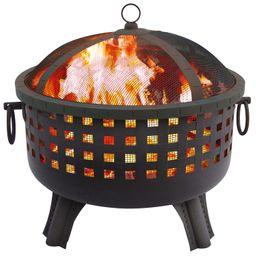 Landmann - Garden Lights Savannah Fire Pit - Black | Best Buy U.S.