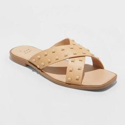 Women's Emmy Studded Crossband Sandals - A New Day™ | Target