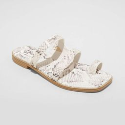 Women's Marilyn Toe Loop Slide Sandals - A New Day™ | Target