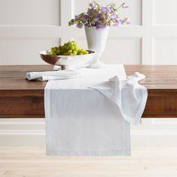 Linen Double Hemstitch Table Runner | Williams-Sonoma
