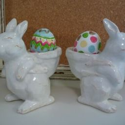 NEW Pottery Barn SET OF 2 Sculpted Bunny Egg Cups Stoneware Easter SEVERAL AVAIL    eBay   eBay US