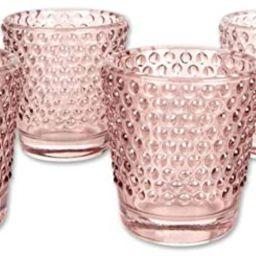 Koyal Wholesale Hobnail Glass Candle Holder, 2.5 x 2.4-Inch, Set of 6 (Blush Pink) | Amazon (US)