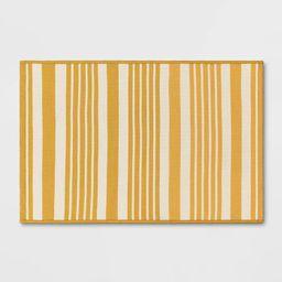 2'x3' Indoor/Outdoor Reversible Rug Yellow - Threshold™   Target