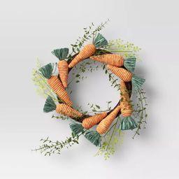 "19"" Artificial Carrot Wreath - Opalhouse™   Target"