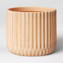"10.25"" Indoor/Outdoor Faux Wood Planter Beige - Opalhouse™   Target"