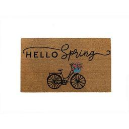 "Farmhouse Living Hello Spring Bike Coir Doormat - 18"" x 30"" - Natural - Elrene Home Fashions   Target"